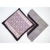 Checks Mix & Diamond Bagh Hand-block Print Cushion Cover - White Black Red