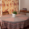 Ditsy Diamond Hand-block Print Round Table Cloth - Black Red