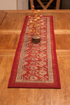 Marigold Hand-block Print Table Runner - Red