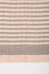 Lurex Stripe Cashmere Wool Scarf - Grey Rose Pink