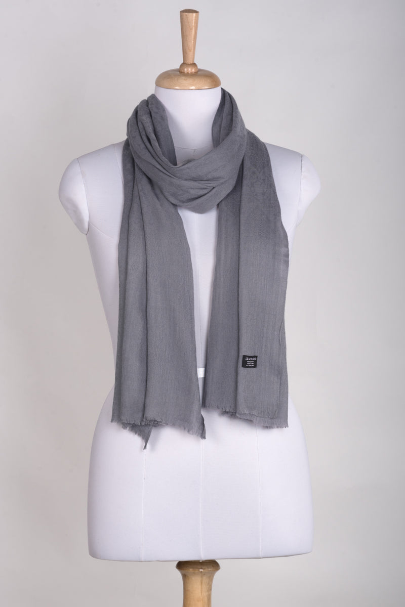Paisley Jacquard Weave Cashmere Wool Scarf - Duck Egg