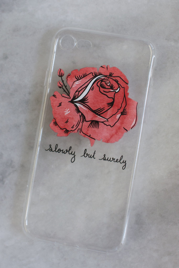 Slowly but Surely iPhone case