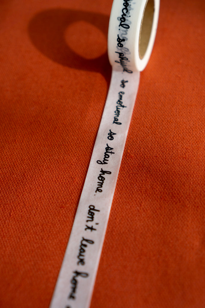 Stay Home (Lyrics) Washi Tape