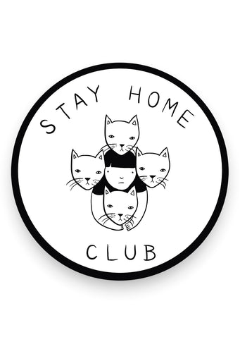 Stay Home Club Logo Vinyl Sticker