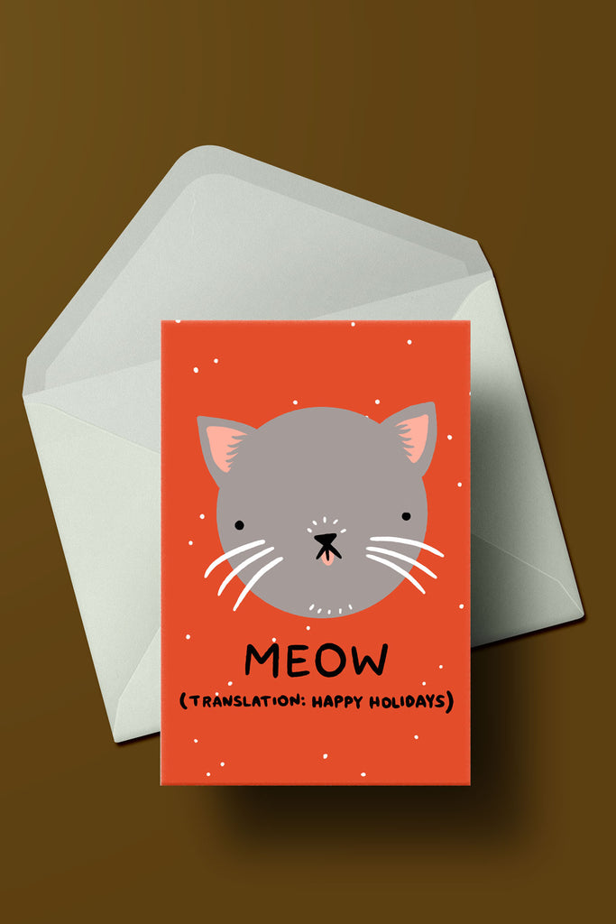 Meow (Happy Holidays) card