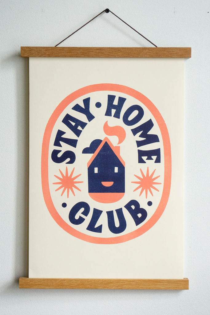 "Club House Riso Print - 11"" x 17"""