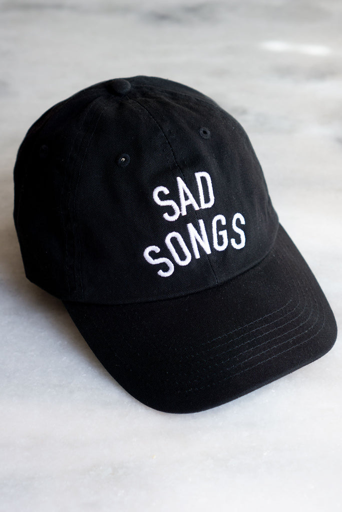 Sad Songs Dad Hat (Black)