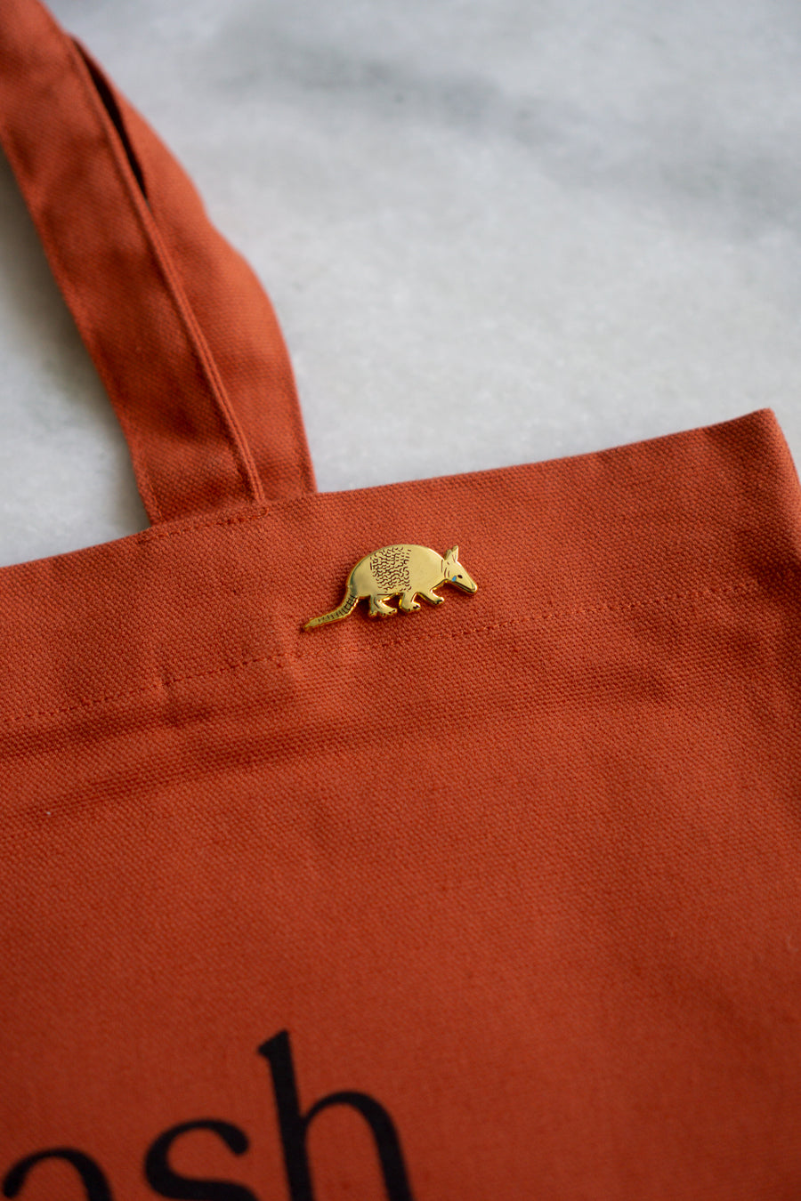 Sad Armadillo Lapel Pin