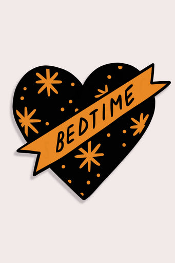 Bedtime Heart Vinyl Sticker