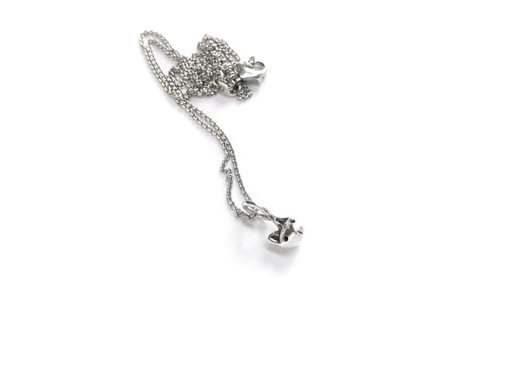 Tiny Cat Head Necklace