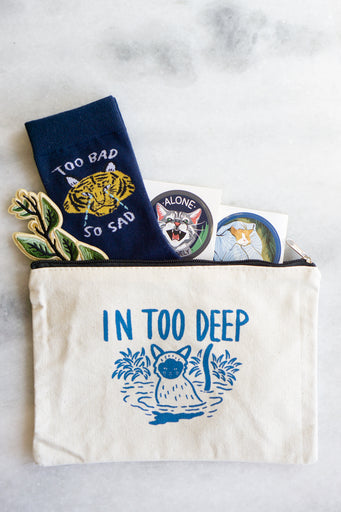 In Too Deep Zipper Pouch