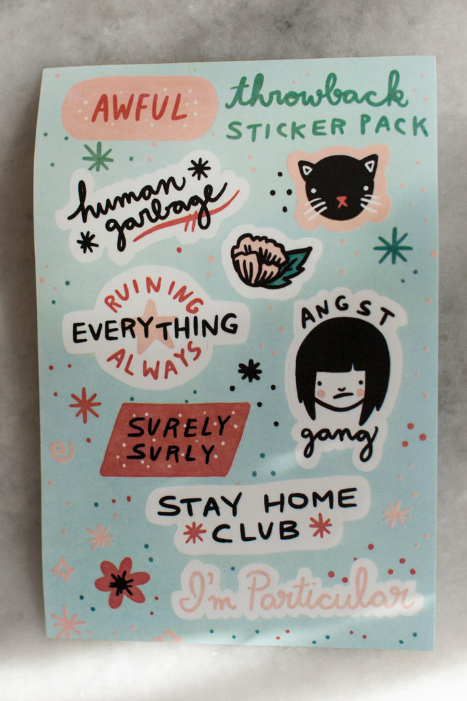 Throwback Sticker Sheet