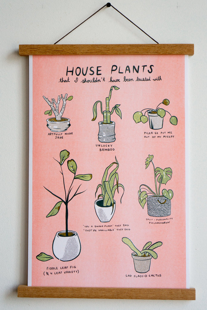 "Unfortunate Plants Riso Print - 11"" x 17"""