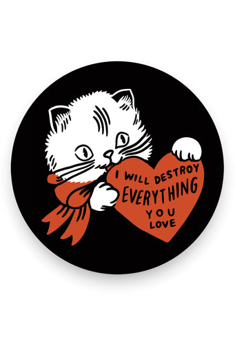 Destroy (Cat) Vinyl Sticker