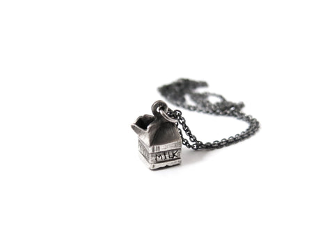 Milk Carton Necklace