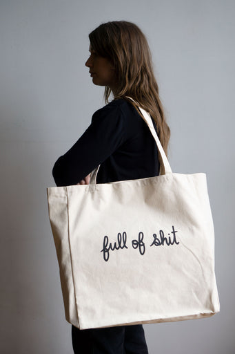 Full of Shit XL Tote - NATURAL