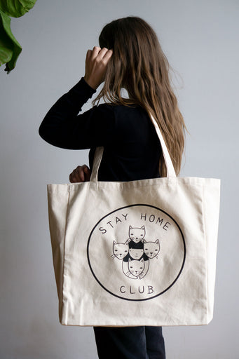 SHC Logo XL Tote - NATURAL