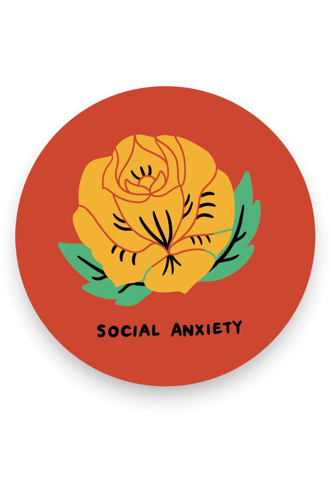 Social Anxiety Vinyl Sticker