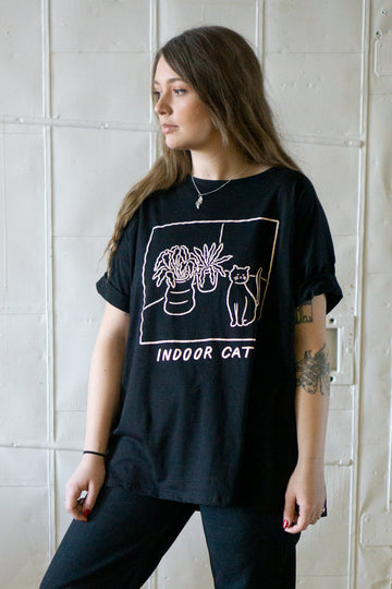 Indoor Cat Loose Tee (NEW PRINT)