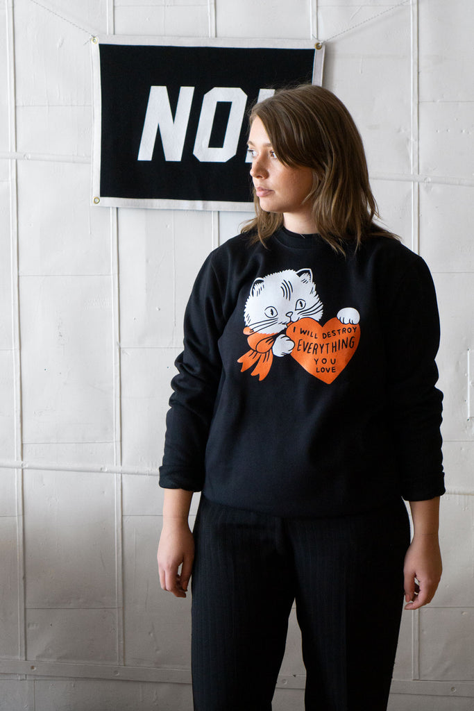 Destroy (Cat) Sweatshirt