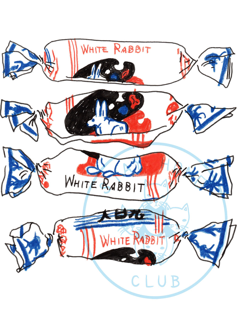 "White Rabbit Print - 12"" x 18"""