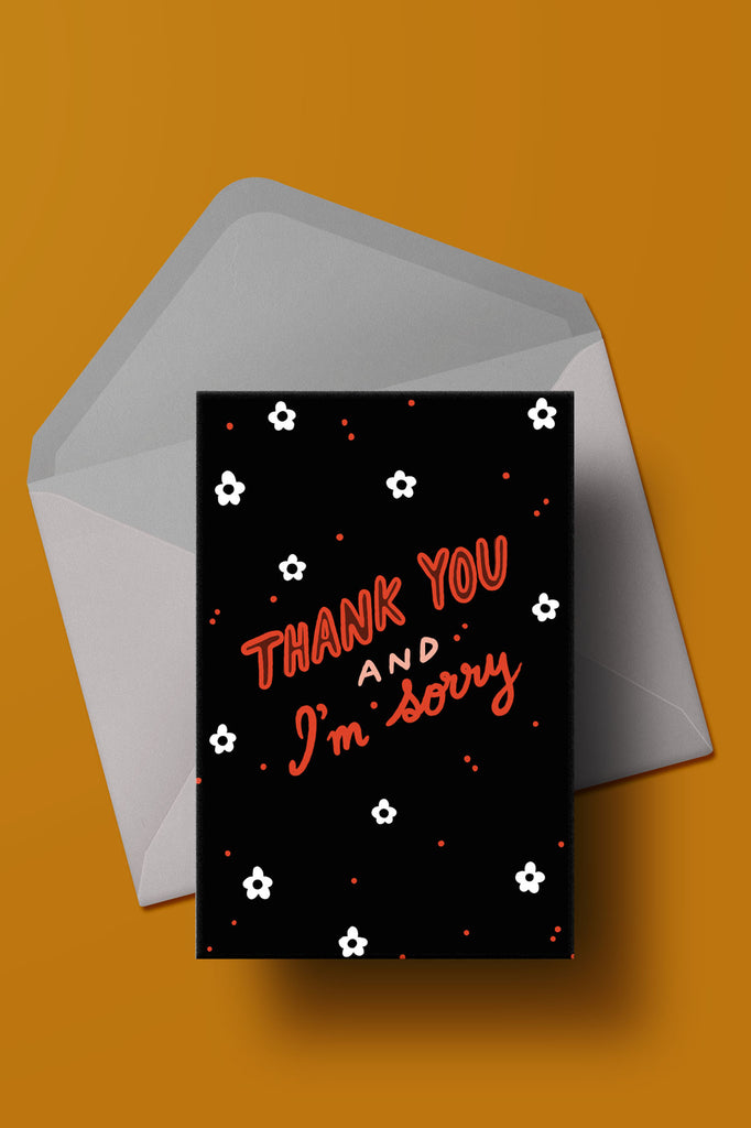 Thank You Sorry Card