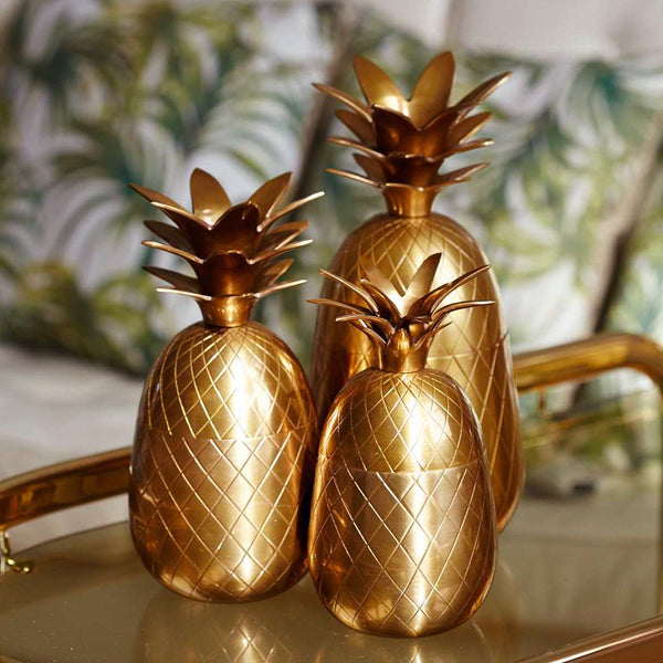Three Brass Pineapple set