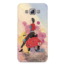 Girl On Scooter Samsung Galaxy E7 Case