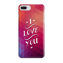 I Love U Vibrant iPhone 8 Plus Case