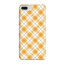 Yellow Checks Pattern iPhone 8 Plus Case
