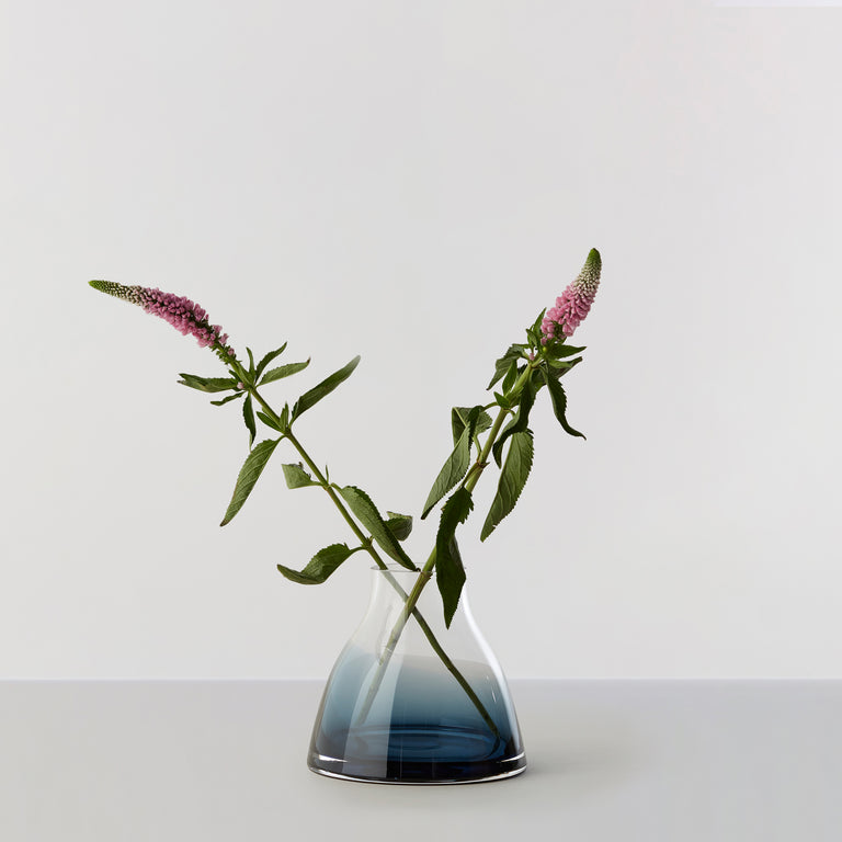 FLOWER VASE no. 1 - Indigo blue