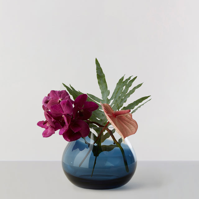 FLOWER VASE no. 23 - Indigo blue