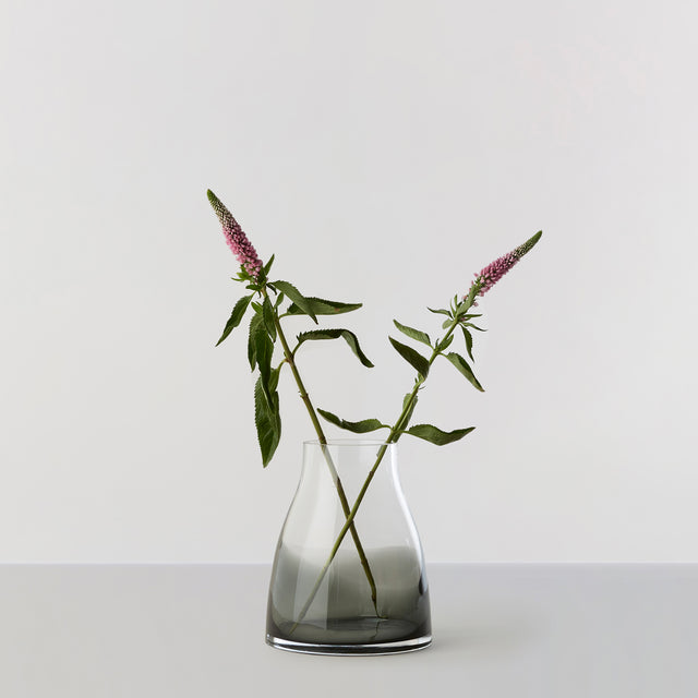 FLOWER VASE no. 2 - Smoked grey