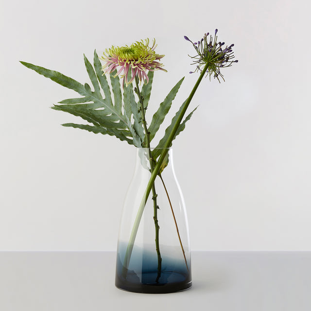 FLOWER VASE no. 3 - Indigo blue