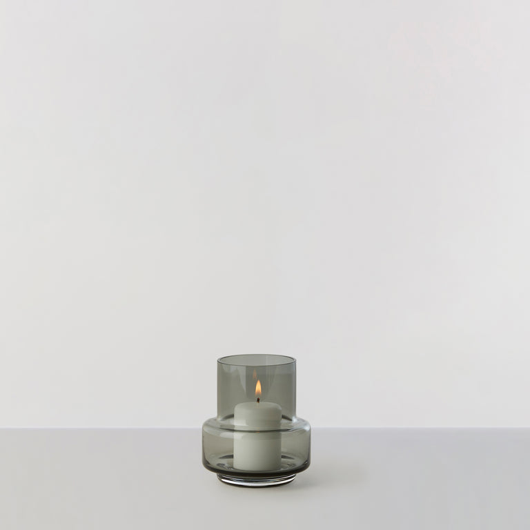HURRICANE TEALIGHT no. 25 - Smoked grey