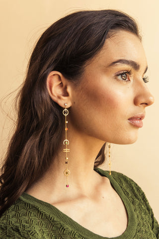 Navratna Danglers - earrings at the OLIO stories