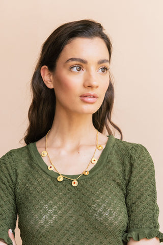 Reversible Paisa Necklace (Short) - necklace at the OLIO stories