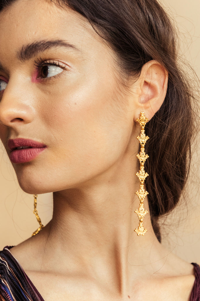 Lotus Danglers - earrings at the OLIO stories