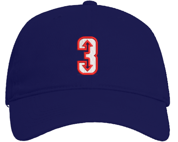 3 Up 3 Down Baseball - Brushed Cotton Adjustable Hat