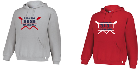 3 Up 3 Down Baseball - Heavyweight Hooded Sweatshirt (Bats Logo)