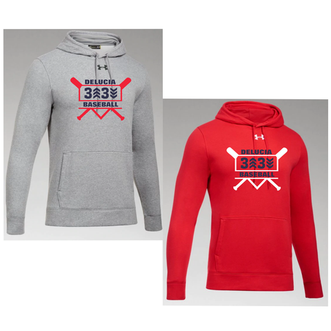 3 Up 3 Down Baseball - Under Armour Hustle Hoody (Bats Logo)