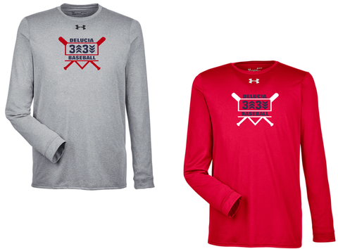 3 Up 3 Down Baseball - Under Armour Longsleeve Locker Tee (Bats Logo)