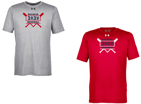 3 Up 3 Down Baseball - Under Armour Shortsleeve Locker Tee (Bats Logo)