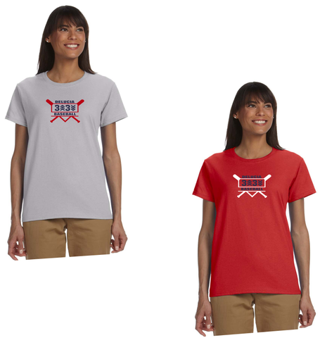 3 Up 3 Down Baseball - Women's Short Sleeve Tee (Bats Logo)