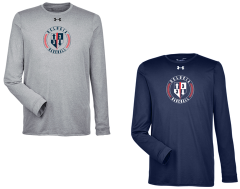 3 Up 3 Down Baseball - Under Armour Longsleeve Locker Tee (Circle Logo)