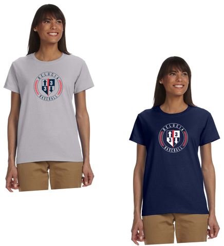 3 Up 3 Down Baseball - Women's Short Sleeve Tee (Circle Logo)