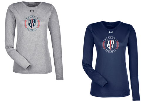 3 Up 3 Down Baseball - Women's Under Armour Longsleeve Locker Tee (Circle Logo)