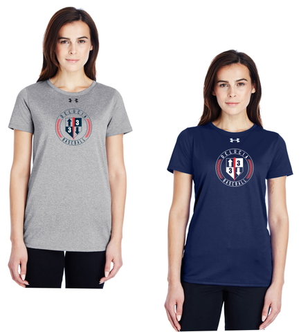 3 Up 3 Down Baseball - Women's Under Armour Shortsleeve Locker Tee (Circle Logo)