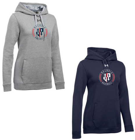 3 Up 3 Down Baseball - Women's Under Armour Hustle Hoody (Circle Logo)