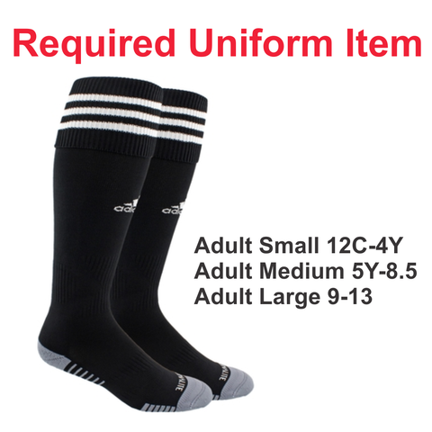 Rage SC - Adidas Copa Zone Black Sock - Required Uniform Item